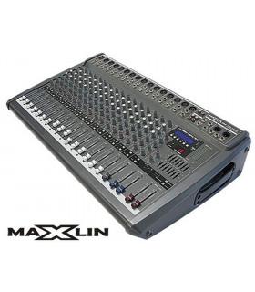 CONSOLA AMPLIFICADA MAXLIN CRX1608U 16 CANALES