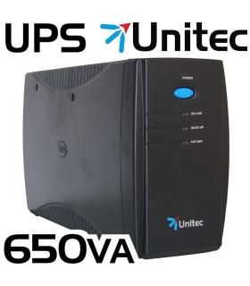 UPS UNITEC 650VA 4 TOMAS REGULADAS (JNP-U650)