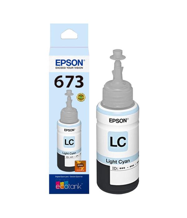 Botella De Tinta Cian Claro Epson 673