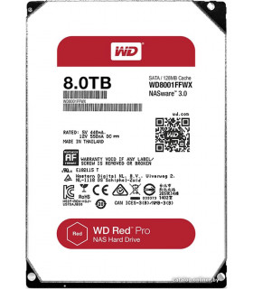 DISCO DURO WESTER DIGITAL WD 8TB RED (WD8001FFWX)