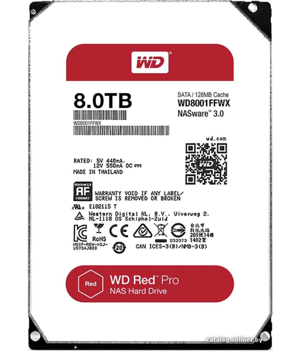 DISCO DURO NAS WESTER DIGITAL WD 8TB RED WD8003FFBX