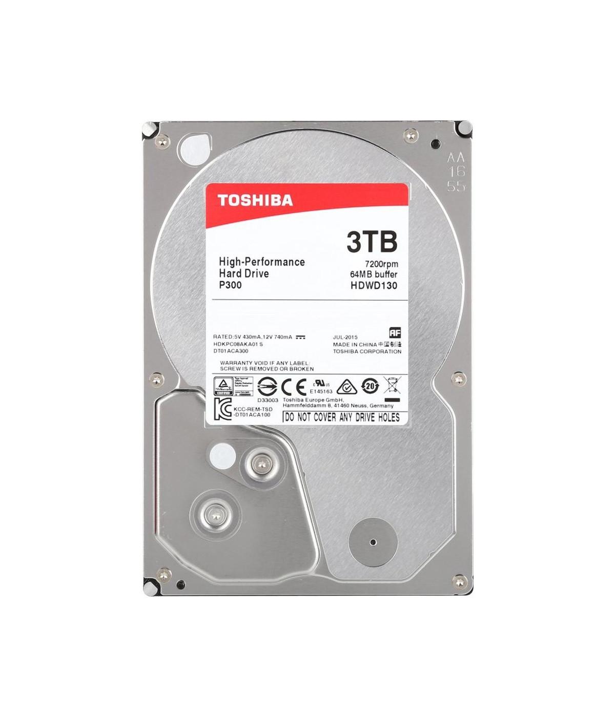 DISCO DURO PC TOSHIBA 3TB P300 (HDWD130XZSTA)