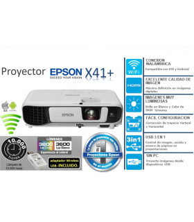 PROYECTOR EPSON X41+ V11H843021