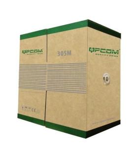 CABLE UTP QPCOM CAT 6 100% COBRE EXTERIORES QP-66804PE