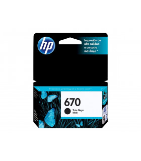 CARTUCHO HP ORIGINAL 670 CZ113AL NEGRO