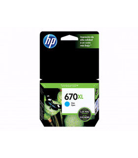 CARTUCHO HP ORIGINAL 670XL CZ118AL CYAN